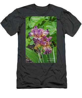 Stunning Variegated Iris Blossoms Men's T-Shirt (Athletic Fit)