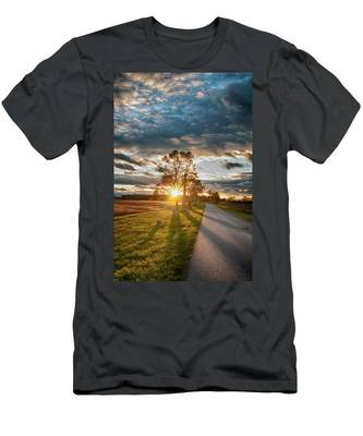 Sunset On The Field Men's T-Shirt (Athletic Fit)