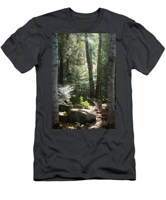 Men's T-Shirt (Athletic Fit) featuring the photograph The Living Forest by Carl Young