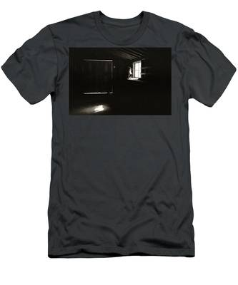 Men's T-Shirt (Athletic Fit) featuring the photograph View Through A Dirty Window by Carl Young