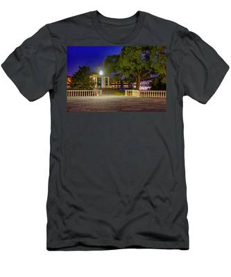 Waterworks Gazebo At Night Men's T-Shirt (Athletic Fit) by Bill Cannon