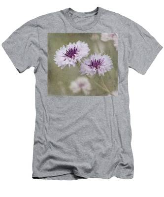 Bachelor Buttons - Flowers Men's T-Shirt (Athletic Fit)