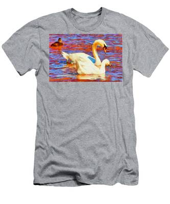 Birds On The Lake Men's T-Shirt (Athletic Fit)