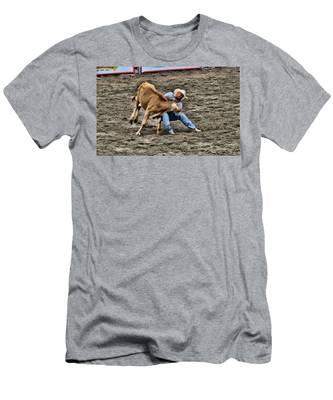 Bull Dogging Men's T-Shirt (Athletic Fit)
