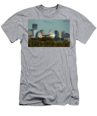 Flight Of The Great Egret Men's T-Shirt (Athletic Fit)