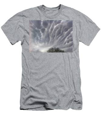 Men's T-Shirt (Athletic Fit) featuring the photograph Freaky Clouds  by Christy Pooschke
