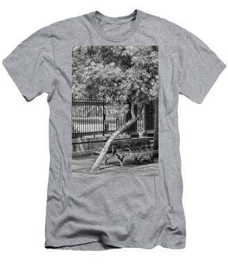 Jackson Square Bench And Tree Men's T-Shirt (Athletic Fit)