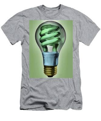 Light Bulb Men's T-Shirt (Athletic Fit)