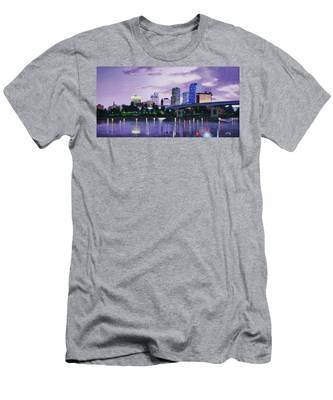 Little Rock Skyline Men's T-Shirt (Athletic Fit)