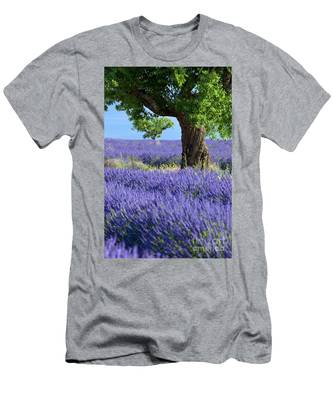 Lone Tree In Lavender Men's T-Shirt (Athletic Fit)