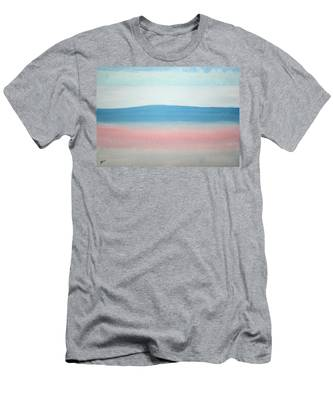 Misty Lake Original Painting Men's T-Shirt (Athletic Fit)