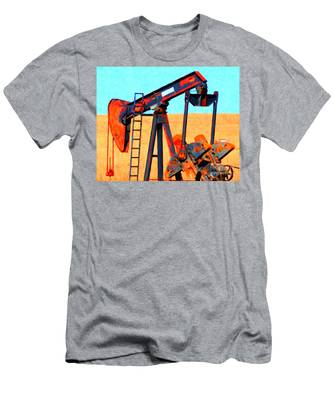 Oil Pump - Painterly Men's T-Shirt (Athletic Fit)