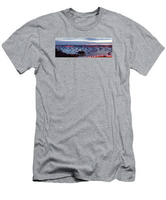Men's T-Shirt (Athletic Fit) featuring the photograph Panoramic Of The Marblehead Illumination by Jeff Folger