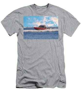Protecting Our Waters - Coast Guard Men's T-Shirt (Athletic Fit)