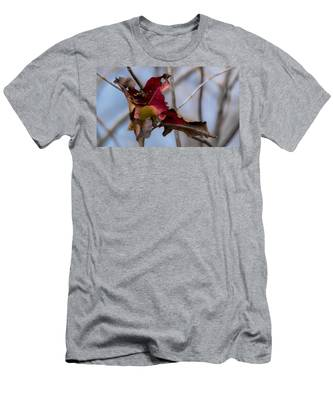 Red Over Branch Men's T-Shirt (Athletic Fit)