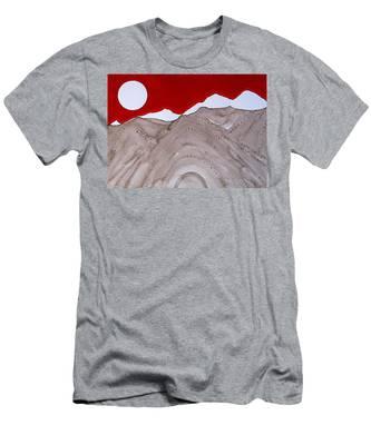 Sangre De Cristo Peaks Original Painting Men's T-Shirt (Athletic Fit)