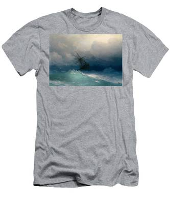Ship On Stormy Seas Men's T-Shirt (Athletic Fit)