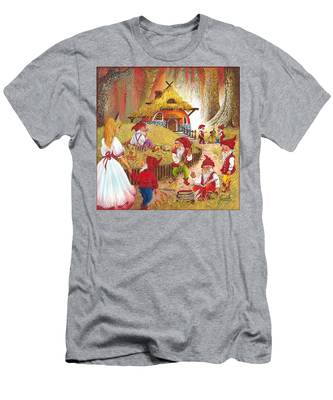 Snow White And The Seven Dwarfs Men's T-Shirt (Athletic Fit)