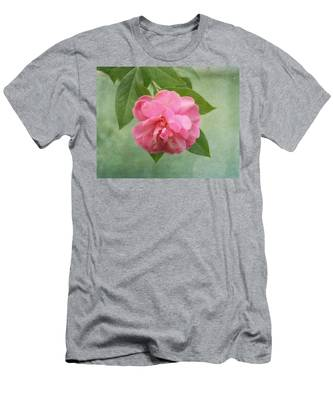 Southern Camellia Flower Men's T-Shirt (Athletic Fit)