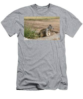 Men's T-Shirt (Athletic Fit) featuring the photograph Squirrel  by Christy Pooschke