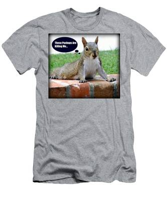Squirrely Push Ups Men's T-Shirt (Athletic Fit)