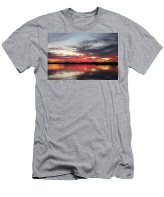 Men's T-Shirt (Athletic Fit) featuring the photograph Sunset Over Mission Bay  by Christy Pooschke