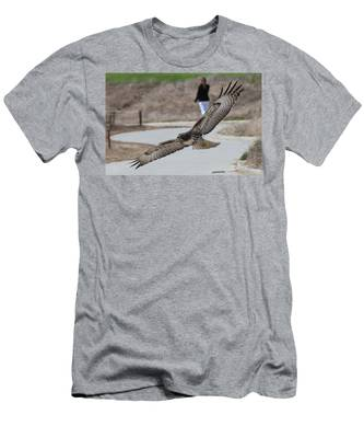 Men's T-Shirt (Athletic Fit) featuring the photograph Swoop by Christy Pooschke