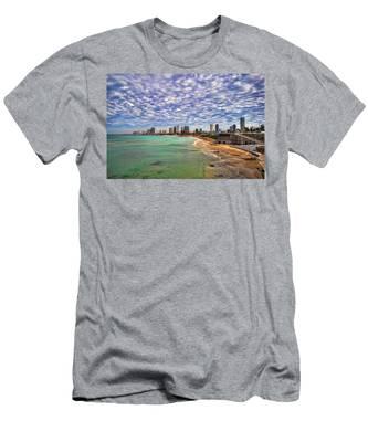 Tel Aviv Turquoise Sea At Springtime Men's T-Shirt (Athletic Fit)