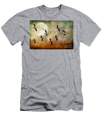 The Flight Of The Snow Geese Men's T-Shirt (Athletic Fit)