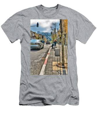 Men's T-Shirt (Athletic Fit) featuring the photograph City Scene by Michael Goyberg