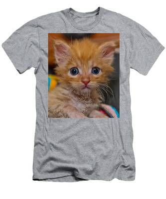 Men's T-Shirt (Athletic Fit) featuring the photograph Kitty by Michael Goyberg