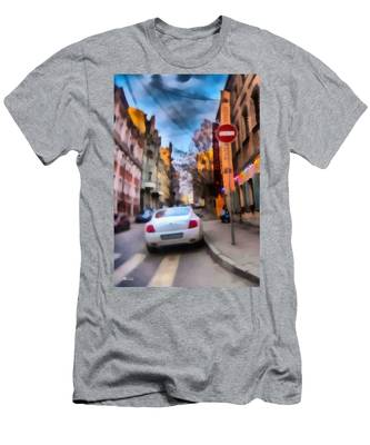 Men's T-Shirt (Athletic Fit) featuring the photograph Moscow's Streets by Michael Goyberg