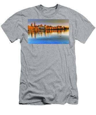 Men's T-Shirt (Athletic Fit) featuring the photograph Novodevichy Convent by Michael Goyberg
