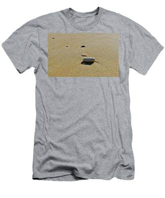 Men's T-Shirt (Athletic Fit) featuring the photograph Stones In The Sand by Michael Goyberg