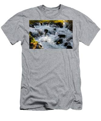 Men's T-Shirt (Athletic Fit) featuring the photograph Stream by Michael Goyberg