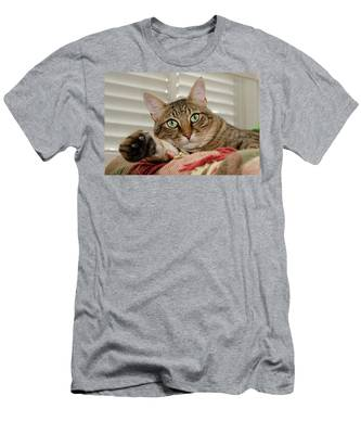 Men's T-Shirt (Athletic Fit) featuring the photograph The Cat With Green Eyes by Michael Goyberg