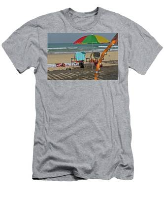 Men's T-Shirt (Athletic Fit) featuring the photograph The Idyll On The Mediterranean Shore by Michael Goyberg