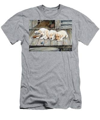Tuckered Out Trio  Sold  Prints Available Men's T-Shirt (Athletic Fit)