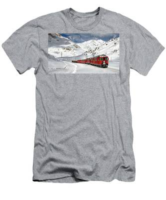 Bernina Winter Express Men's T-Shirt (Athletic Fit)