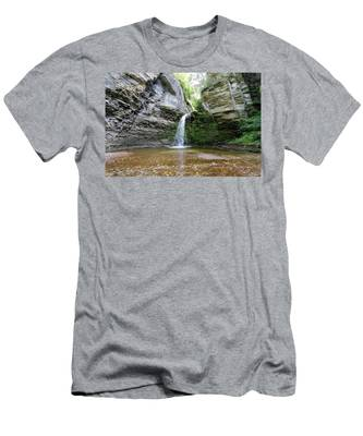 Eagle Cliff Falls In Ny Men's T-Shirt (Athletic Fit)