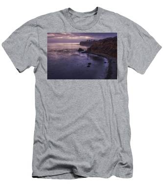 Men's T-Shirt (Athletic Fit) featuring the photograph Pelican Cove And Point Vicente After Sunset by Andy Konieczny