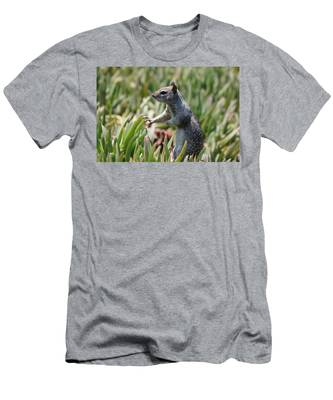 Men's T-Shirt (Athletic Fit) featuring the photograph Rock Squirrel  by Christy Pooschke