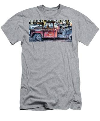 A Beautiful Rusty Old Tow Truck Men's T-Shirt (Athletic Fit) by Dennis Dame