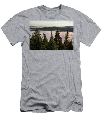 Men's T-Shirt (Athletic Fit) featuring the photograph Above The Clouds by Brad Wenskoski