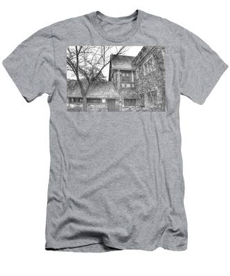 Annex At Ringwood Manor With Tree Men's T-Shirt (Athletic Fit)
