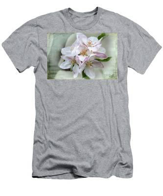 Apple Blossoms From My Hepburn Garden Men's T-Shirt (Athletic Fit)