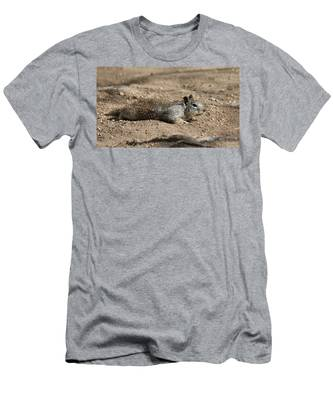 Men's T-Shirt (Athletic Fit) featuring the photograph Army Crawl - 3 by Christy Pooschke