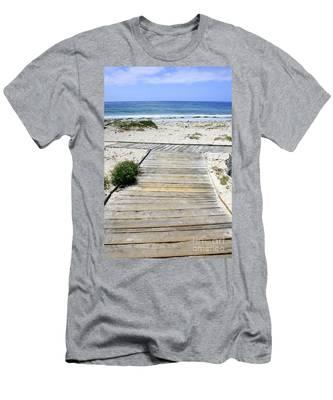 Beach Walk Men's T-Shirt (Athletic Fit)