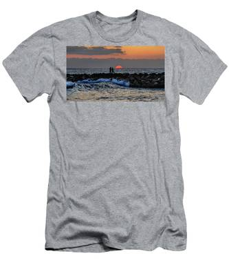 Men's T-Shirt (Athletic Fit) featuring the photograph California Evening With Sandstone Effect by Howard Bagley