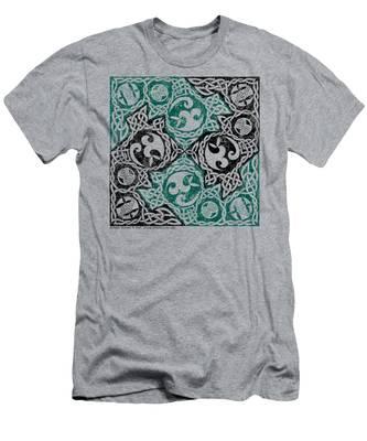 Celtic Puzzle Square Men's T-Shirt (Athletic Fit)